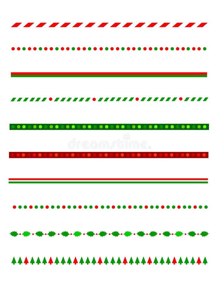 Cadre/diviseur de Noël illustration stock