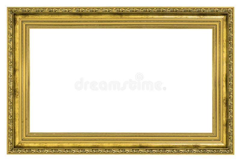 Cadre doré avec la frontière épaisse photographie stock libre de droits