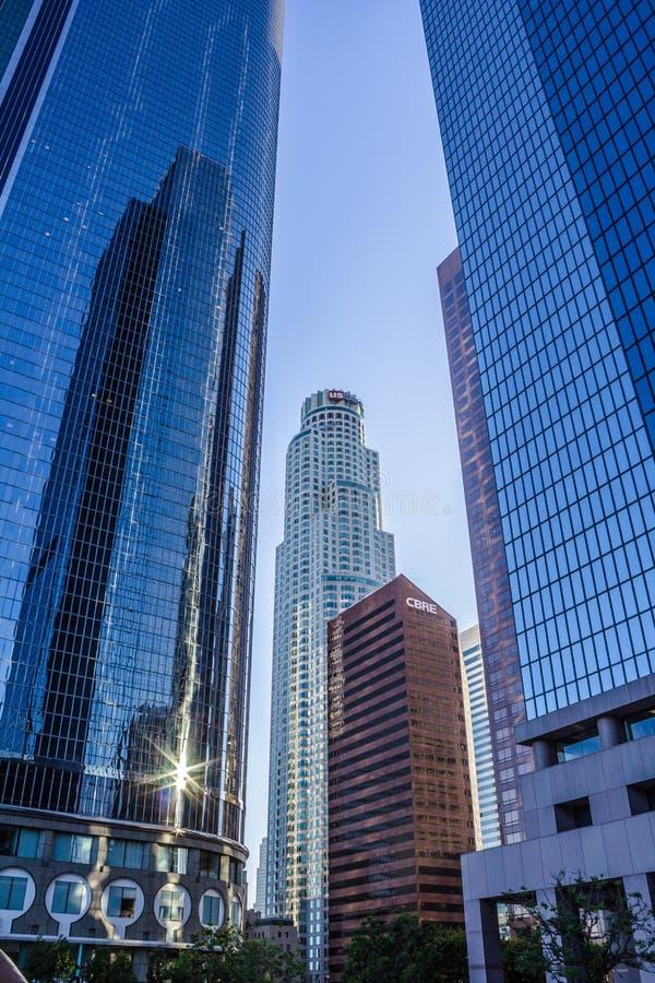 Cadre du centre U de gratte-ciel de Los Angeles S Banque mondiale photos libres de droits