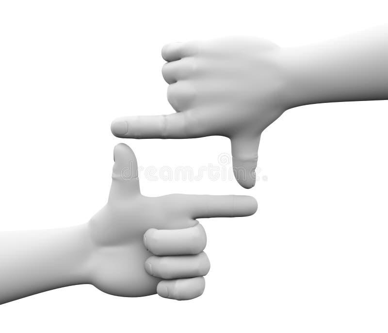 cadre du doigt 3d illustration libre de droits