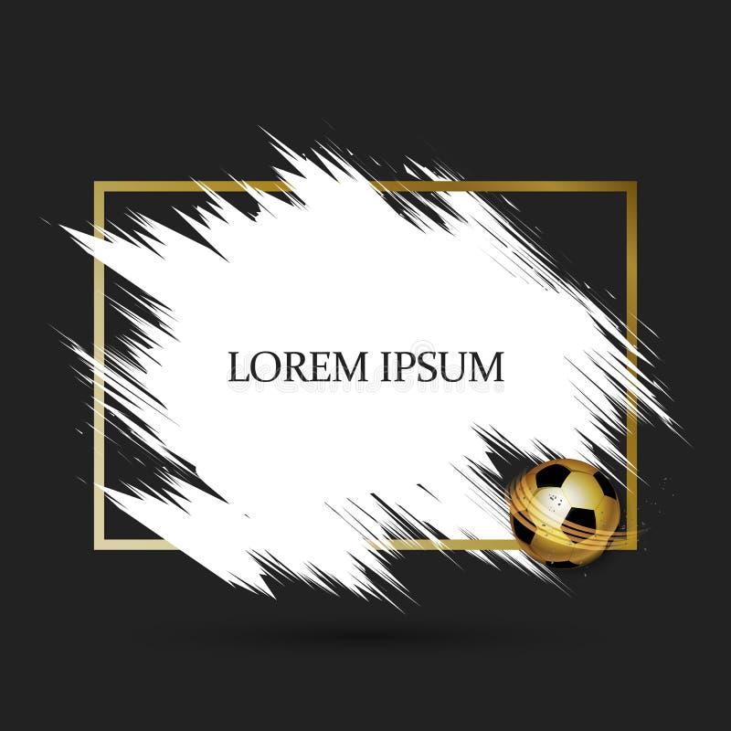Cadre du football d'or illustration stock