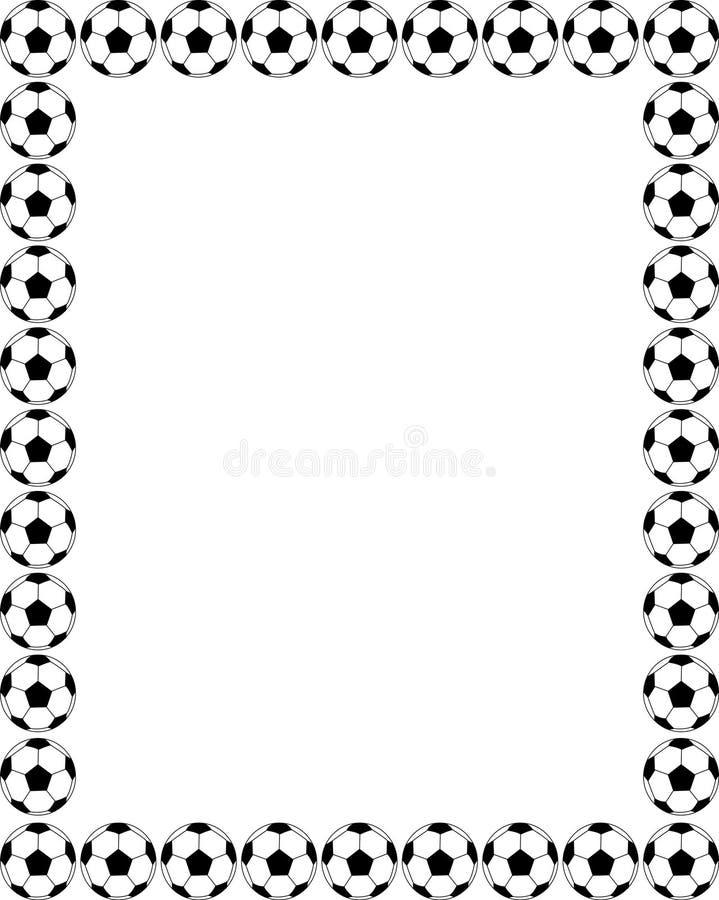 Cadre du football illustration libre de droits