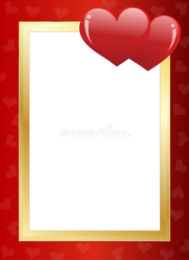 Cadre du jour de Valentine illustration stock