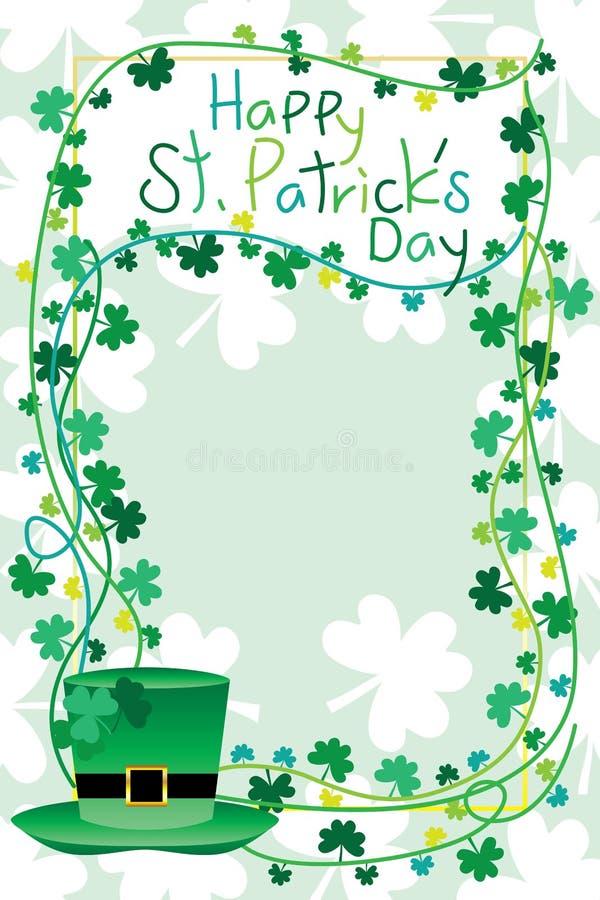 Cadre du ` s de St Patrick illustration de vecteur
