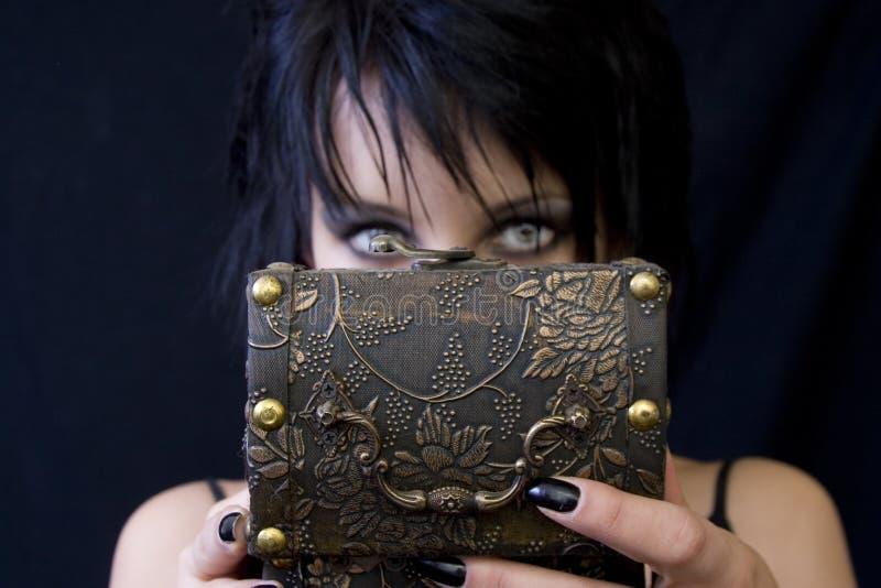 Cadre du trésor de la femme de Goth photos stock