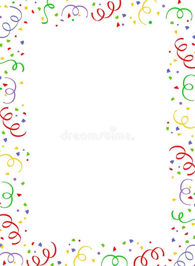 Cadre en baisse de confettis illustration de vecteur