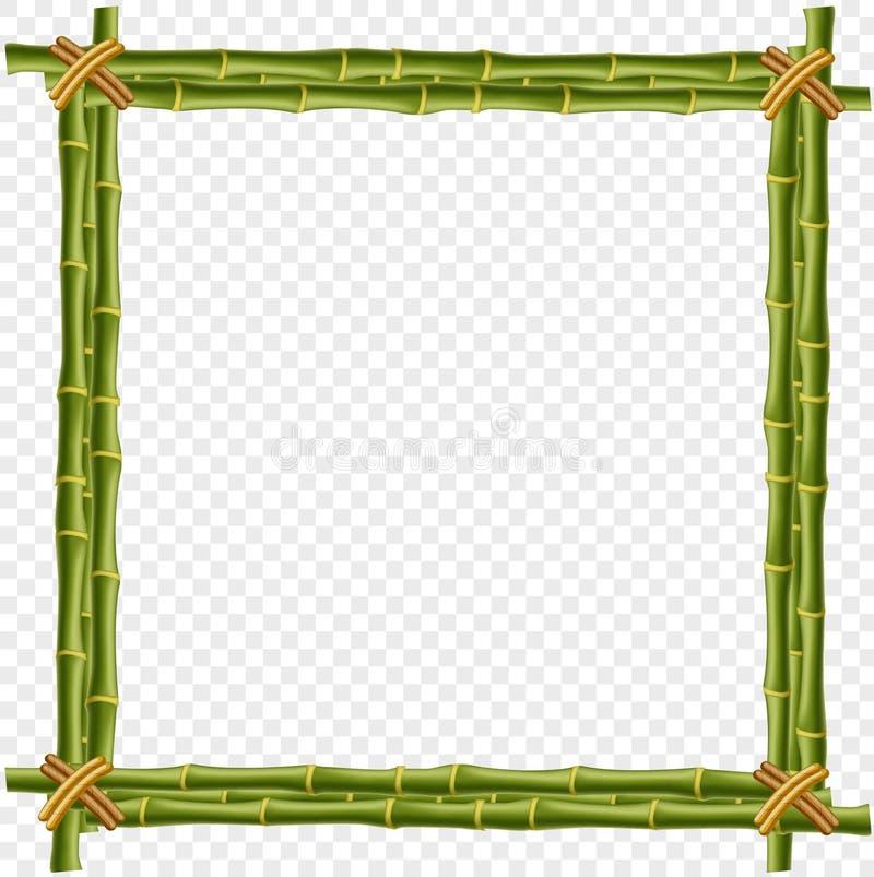 Cadre en bambou de vapeur d'isolement sur le fond transparent illustration de vecteur