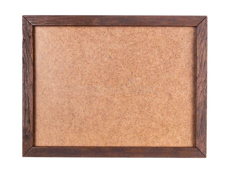 Cadre en bois avec le panneau de contreplaqué photographie stock libre de droits