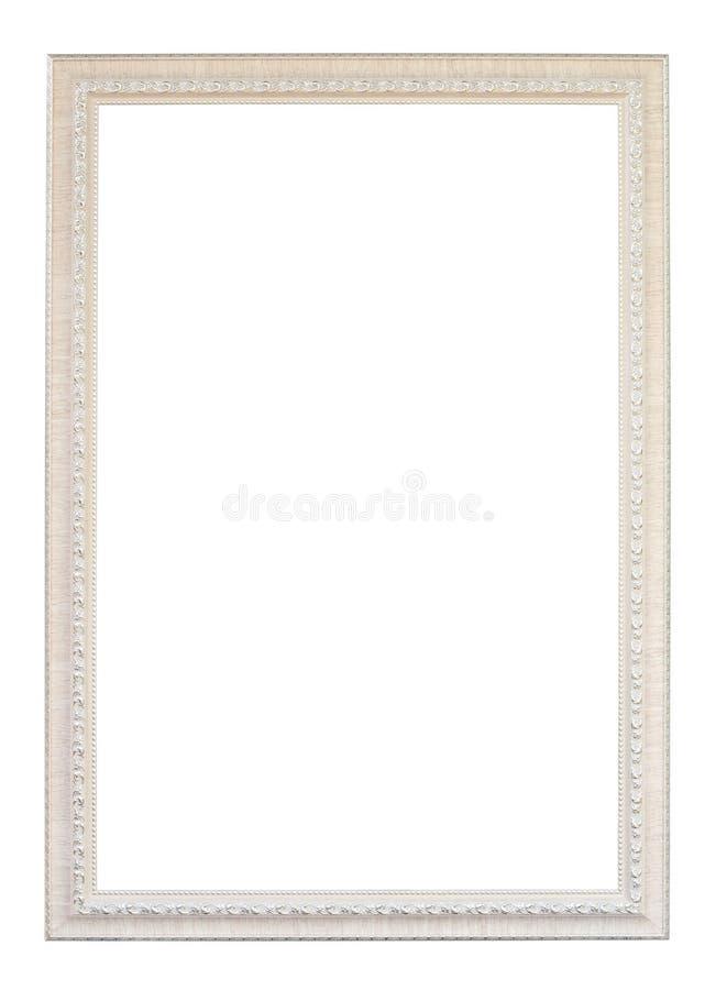 Cadre en bois blanc de vintage images stock