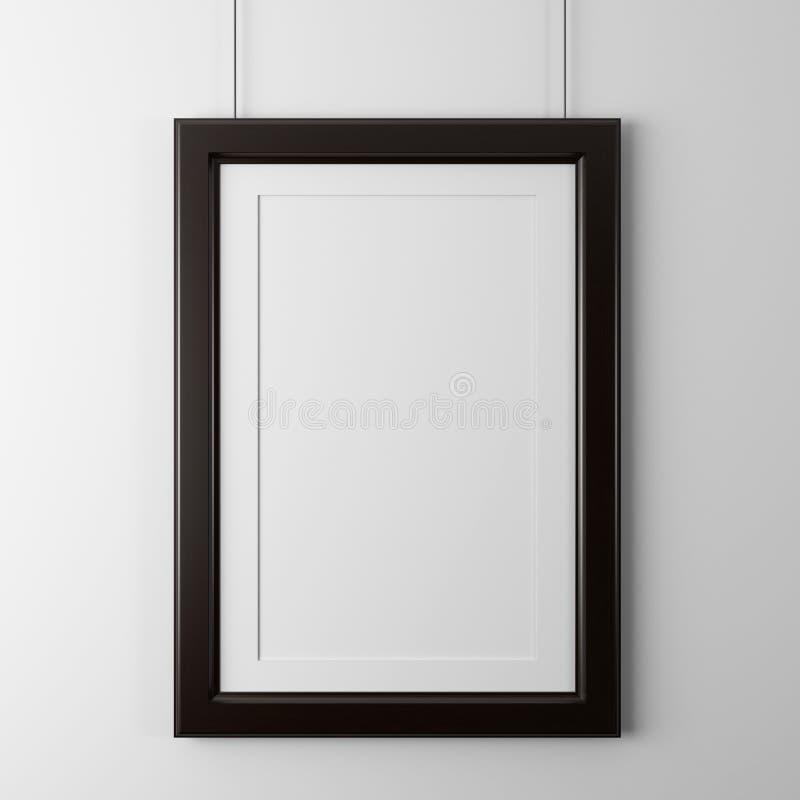 Cadre en bois classique illustration stock