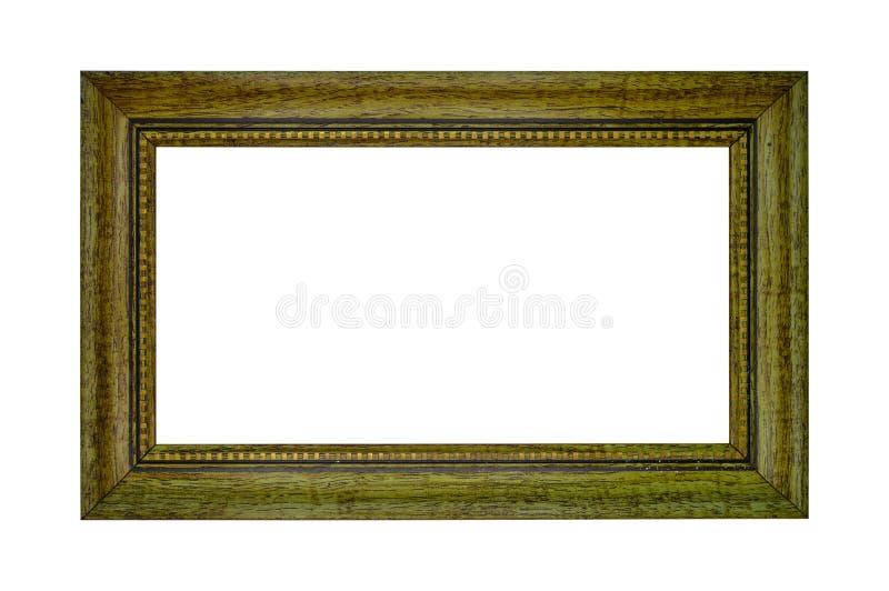 Cadre en bois creux rectangulaire et brun photographie stock