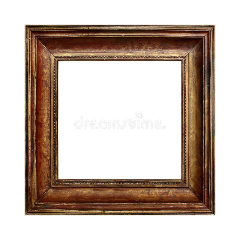 Cadre en bois d'or de photo photo stock