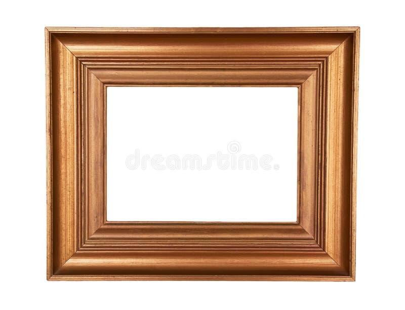 Cadre en bois de peinture d'or photographie stock