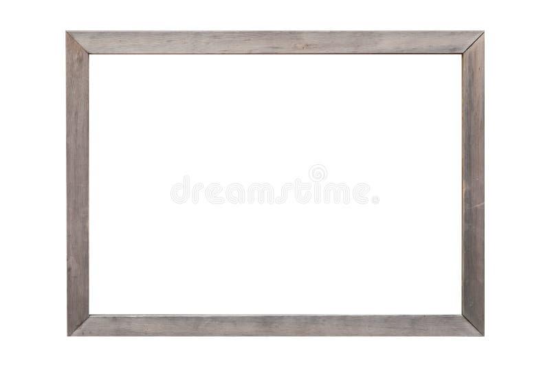 Cadre en bois de photo d'isolement sur le blanc photos stock