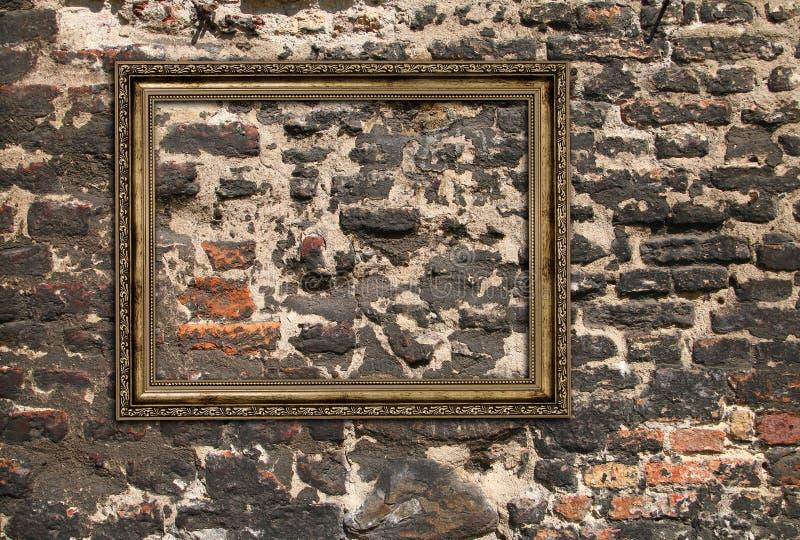 Cadre en bois doré photos libres de droits