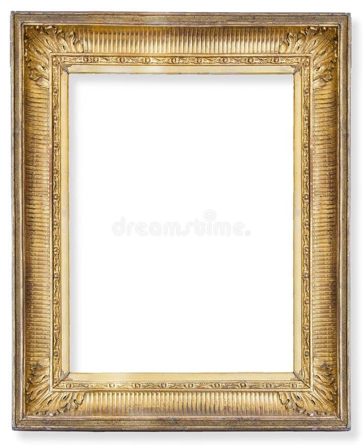 Cadre en bois doré images stock