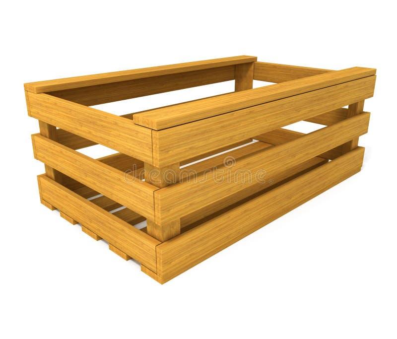 Cadre en bois pour des fruits et légumes illustration de vecteur