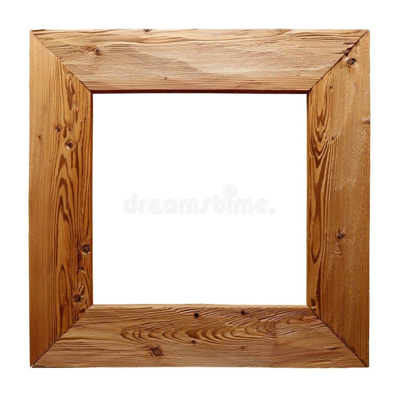 Cadre en bois rustique d 39 isolement sur le blanc photo for Miroir rustique