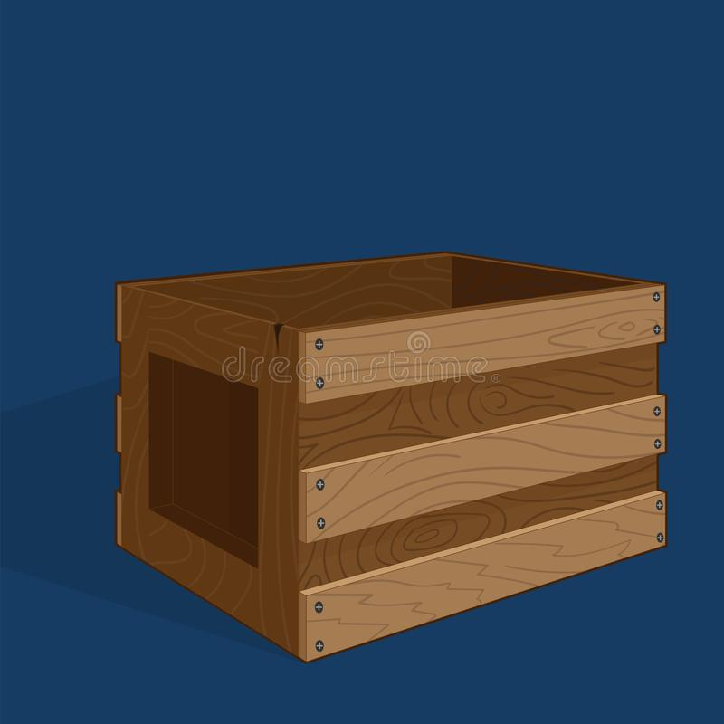 Cadre en bois vide illustration stock
