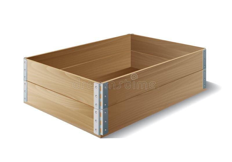 Cadre en bois vide illustration libre de droits