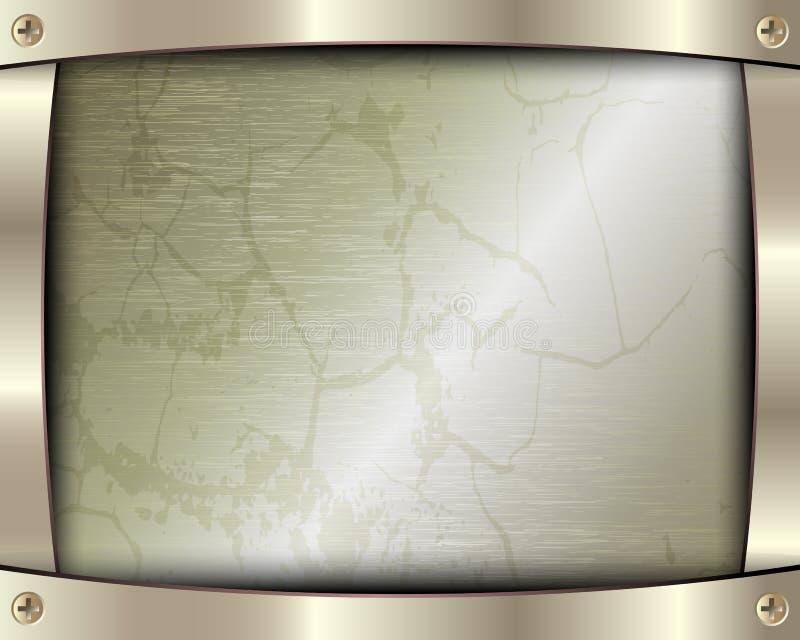 Cadre en métal avec des vis illustration de vecteur