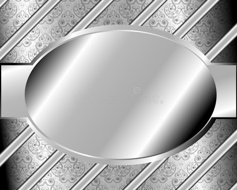 Cadre en métal avec un modèle 2 illustration libre de droits