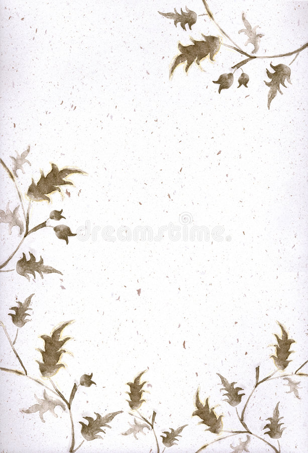 Cadre et coin floraux artistiques illustration de vecteur