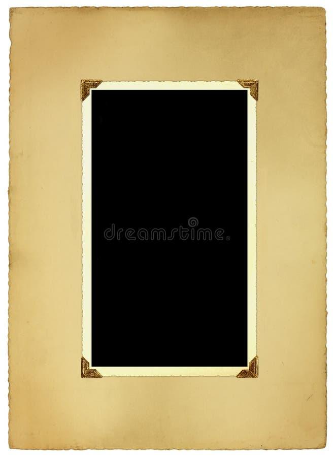 Cadre et support antiques de photo images libres de droits