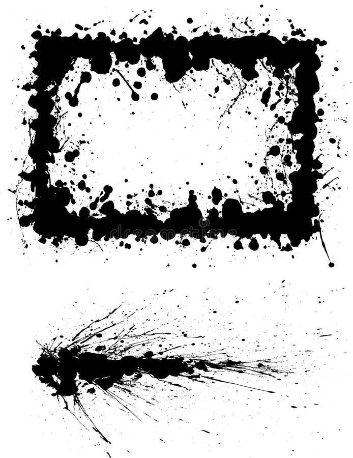 Cadre et tache d'encre illustration libre de droits