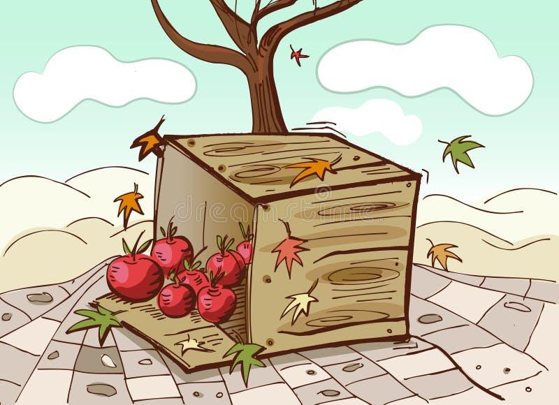 Cadre et tomates illustration de vecteur