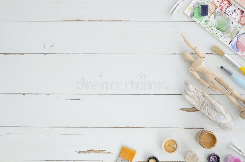 Cadre faisant le coin d'art L'espace pour le texte, oeuvre d'art, lettrage Configuration plate, vue supérieure Confortable, doux, images libres de droits
