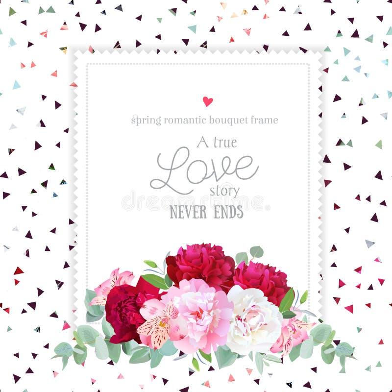 Cadre floral élégant de place de conception de vecteur illustration de vecteur