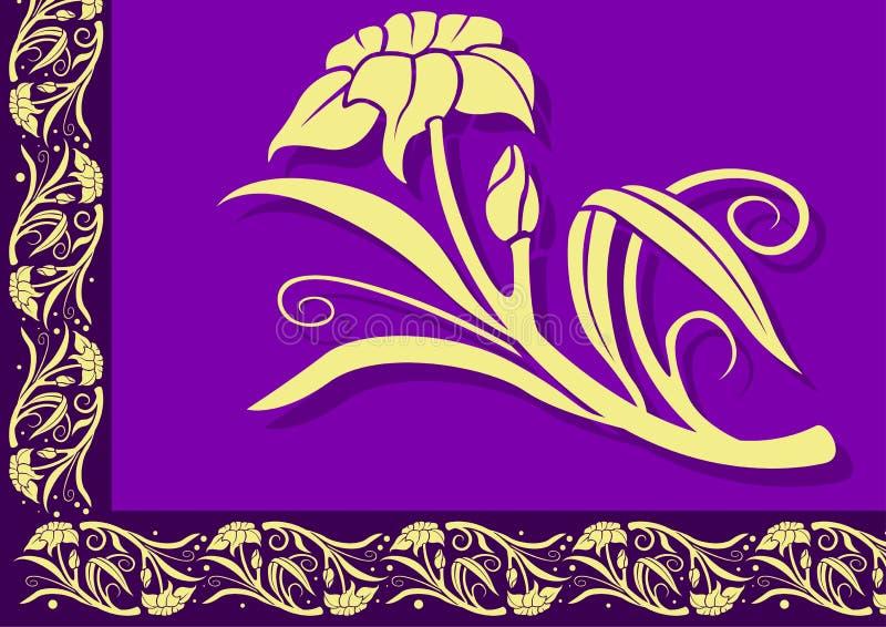 Cadre floral 05 illustration de vecteur