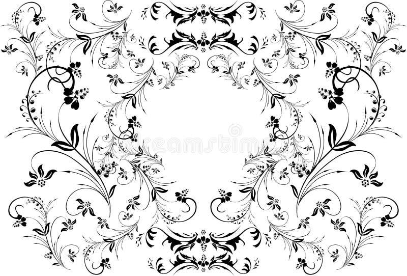 Cadre floral abstrait illustration de vecteur