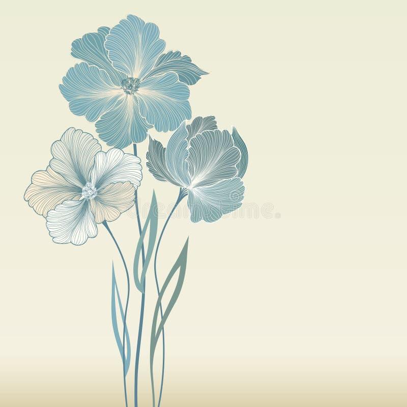 Cadre floral avec des fleurs d'été Bouquet floral avec le wildflower illustration libre de droits
