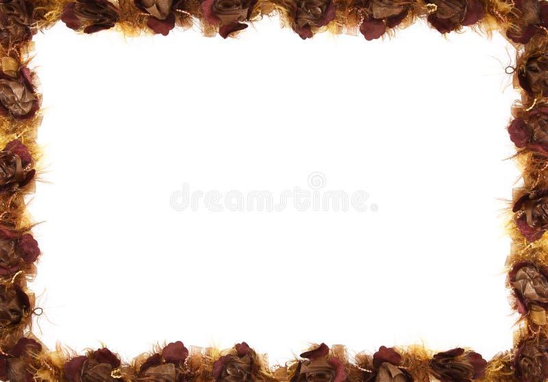 Cadre floral d'automne photographie stock