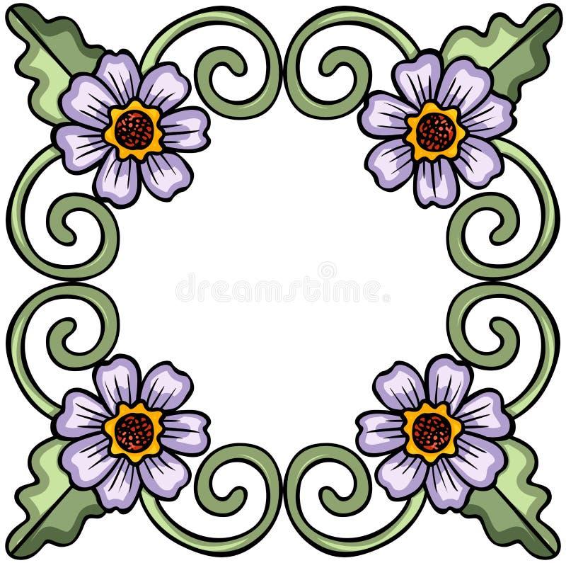 Cadre floral de fleur illustration de vecteur