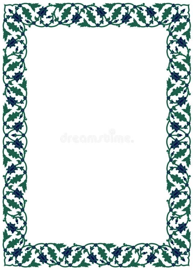 Cadre floral de jardin illustration stock