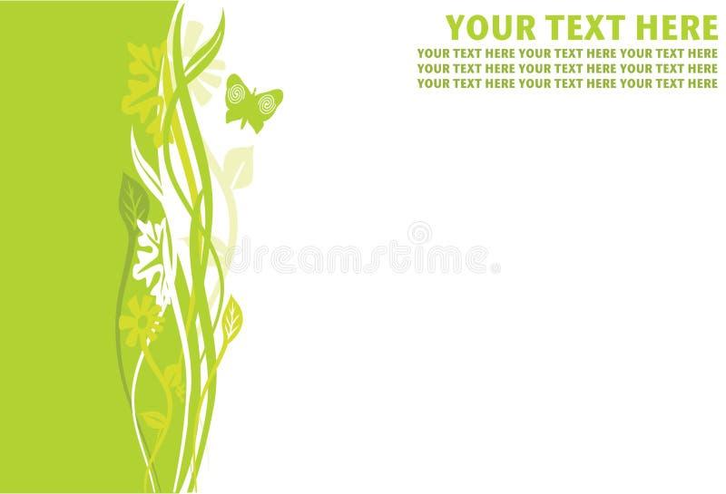 Cadre floral de page de limette illustration libre de droits