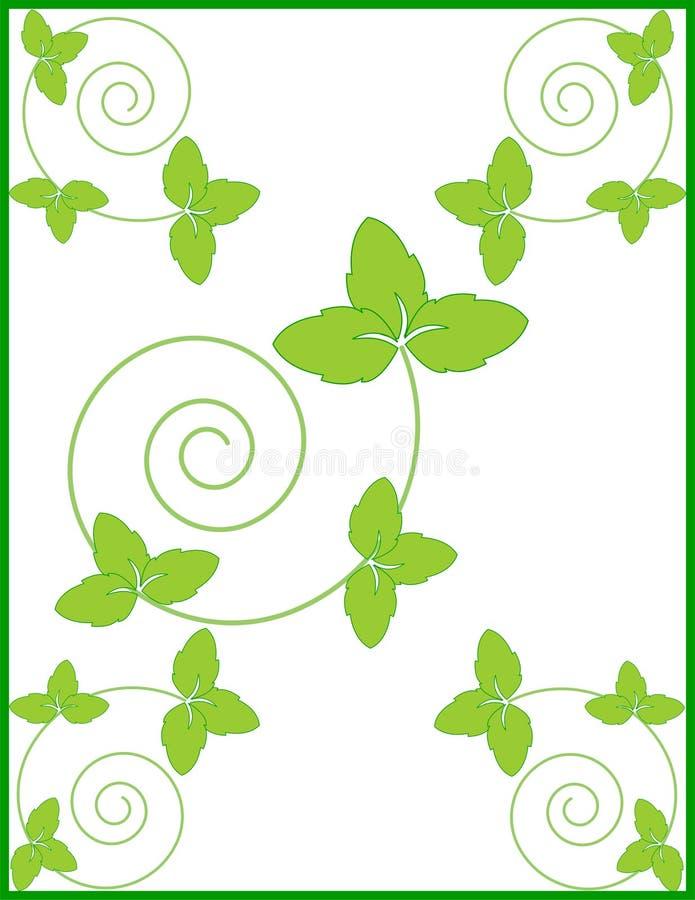 Cadre floral naturel décoratif, fond photo libre de droits
