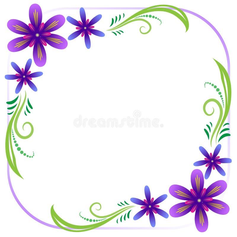 Cadre floral violet photographie stock
