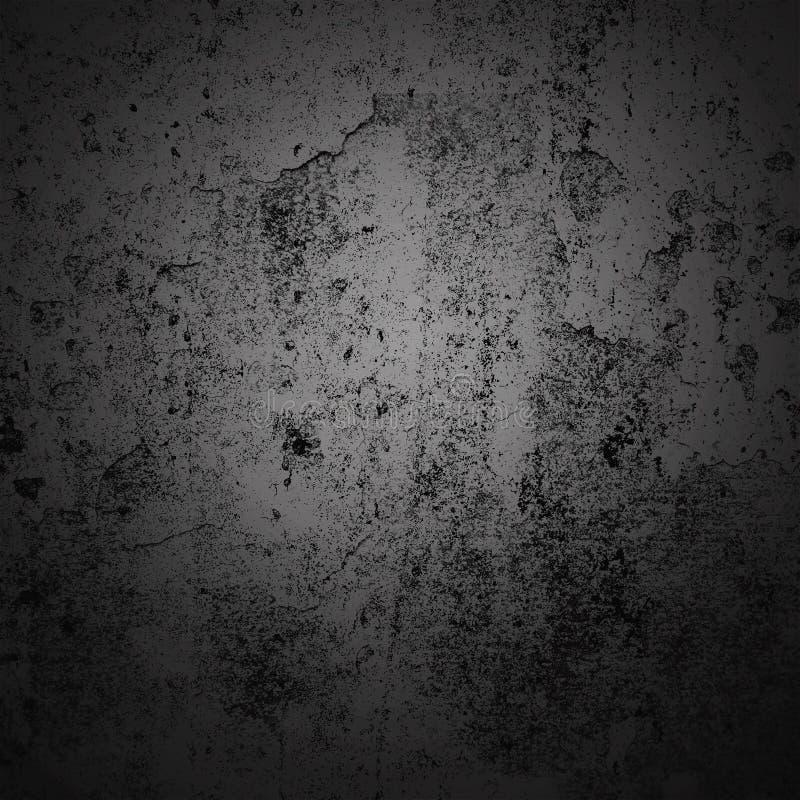 Cadre foncé de frontière de vignette de fond de résumé avec le fond gris de texture Style grunge de fond de cru image stock