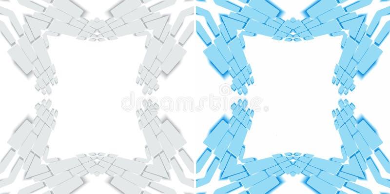 Cadre géométrique de frontière illustration stock