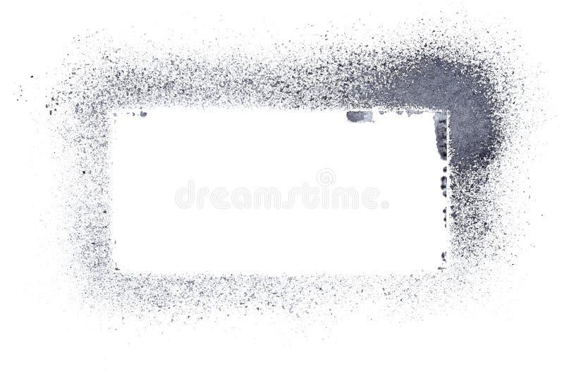 Cadre gris de pochoir illustration stock
