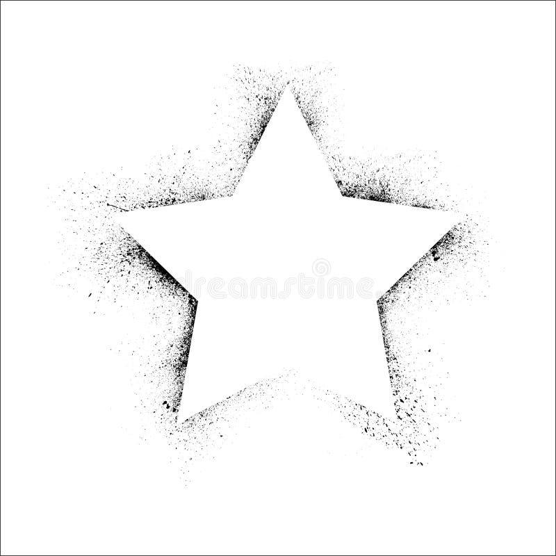 Cadre grunge d'étoile illustration de vecteur
