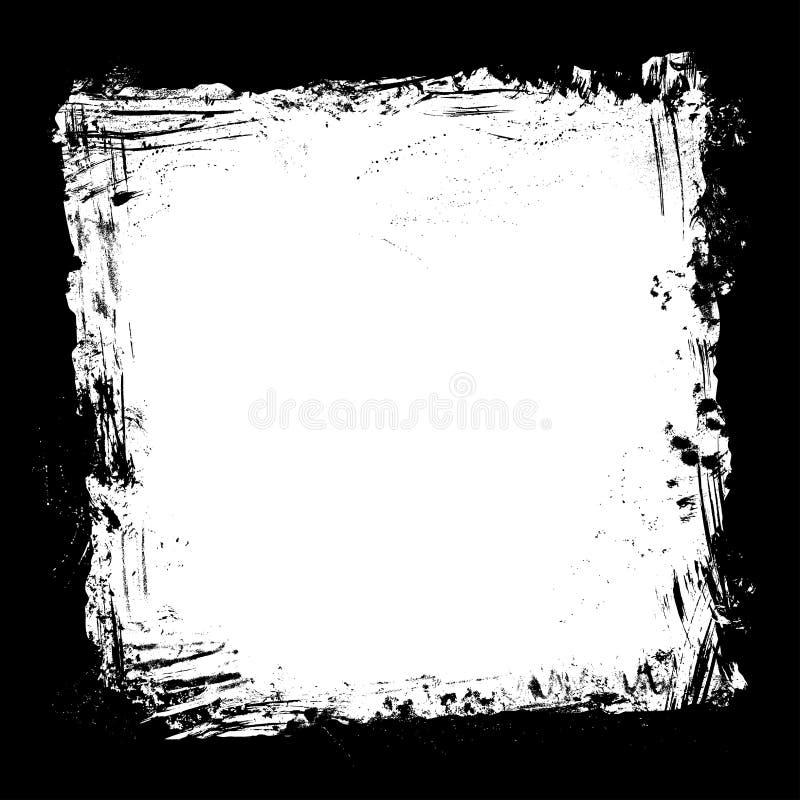 Cadre grunge d'encre de vecteur illustration libre de droits
