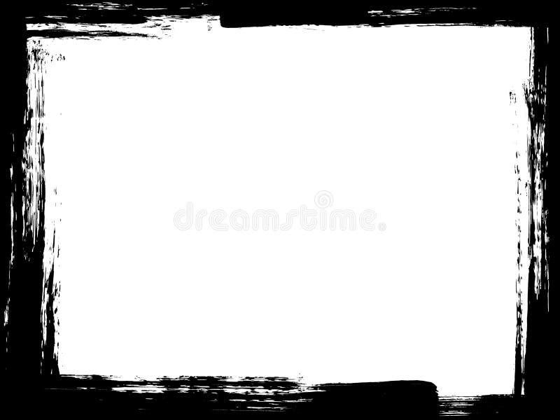 Cadre grunge de frontière de pinceau illustration stock