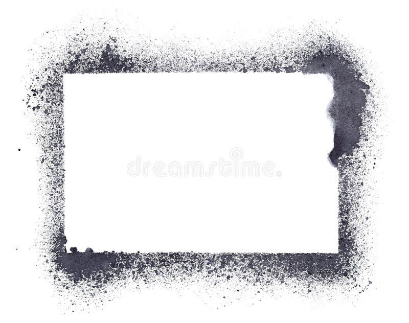 Cadre grunge de pochoir illustration stock