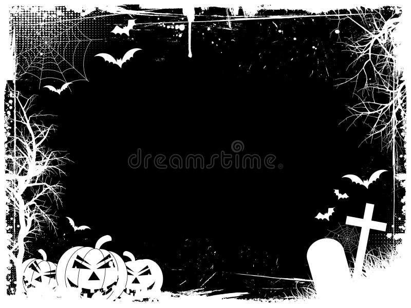Cadre grunge de veille de la toussaint illustration de vecteur