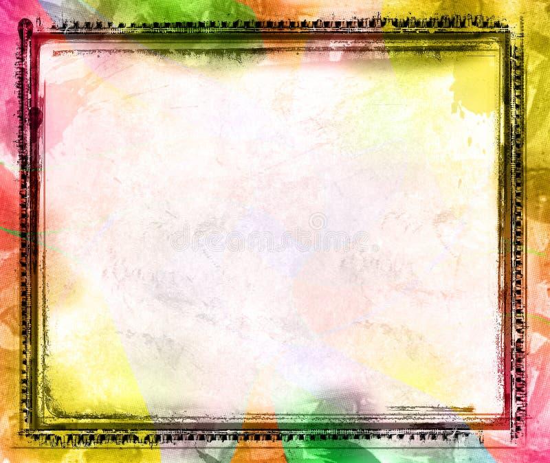Cadre grunge et fond illustration de vecteur